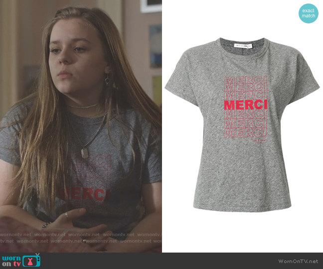 Merci Print T-Shirt by Rag & Bone worn by Daphne Conrad (Maisy Stella) on Nashville