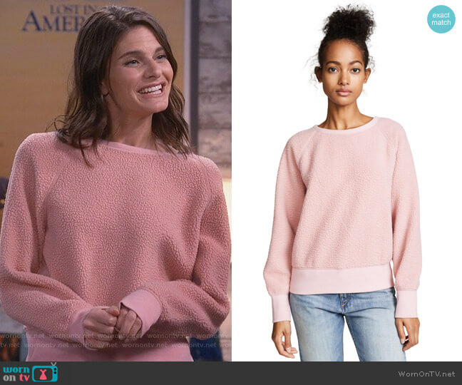 Sherpa Fleece Pullover by Rag & Bone worn by Leslie Curry (Lindsey Kraft) on Living Biblically