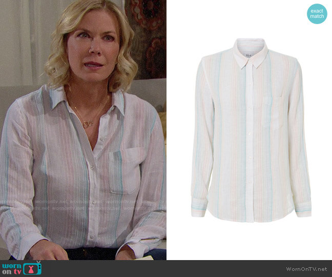 Rails Marbella Shirt worn by Katherine Kelly Lang on The Bold & the Beautiful