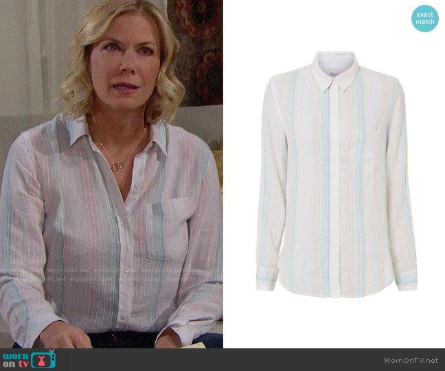 Rails Marbella Shirt worn by Brooke Logan (Katherine Kelly Lang) on The Bold & the Beautiful