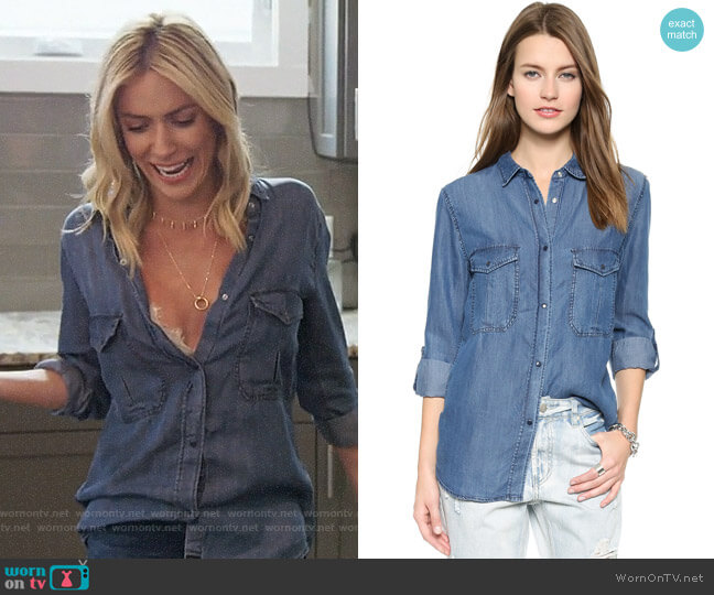 Rails Marlow Shirt worn by Kristin Cavallari  on Very Cavallari