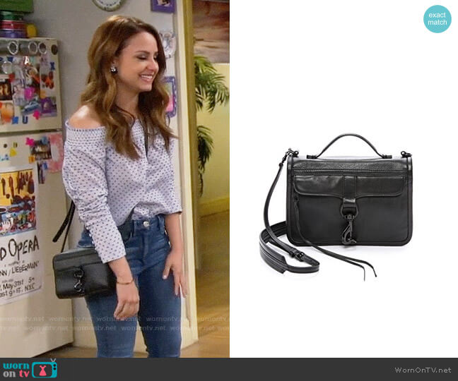 Rebecca Minkoff Bowery Crossbody Bag worn by Sofia Rodriguez (Aimee Carrero) on Young & Hungry
