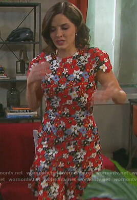 Theresa's floral embroidered dress on Days of our Lives
