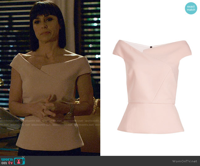 Roland Mouret Elmswell Top worn by Constance Zimmer on UnReal