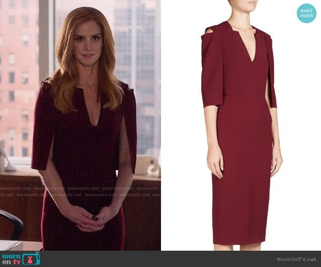 Roland Mouret Queensbury Dress worn by Sarah Rafferty on Suits