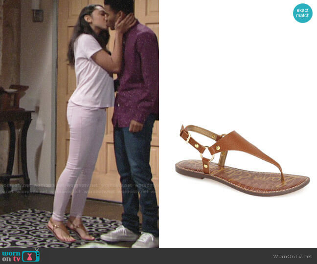 Sam Edelman Greta Sandal  worn by Shauna (Camryn Hamm) on The Young & the Restless