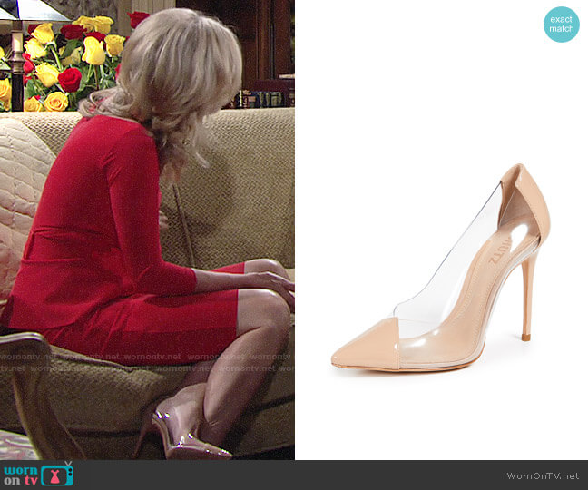 Schutz Cendi Pumps worn by Eileen Davidson on The Young & the Restless