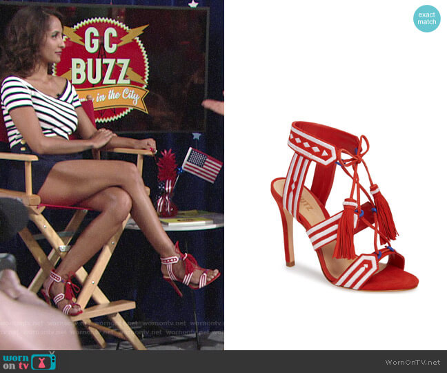 Schutz Eurica Sandals worn by Christel Khalil on The Young & the Restless