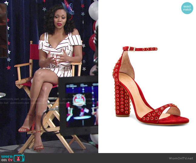 Schutz Marcelle Sandal worn by Mishael Morgan on The Young & the Restless