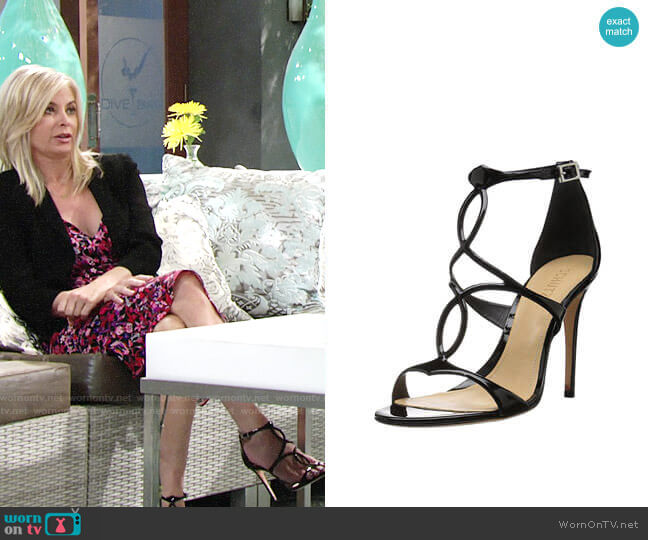 Schutz Rania Sandals worn by Eileen Davidson on The Young & the Restless