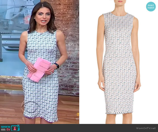 Adina Dress by St John Collection worn by Bianna Golodryga on CBS This Morning