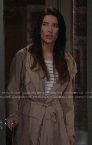 Steffy's pink parka on The Bold and the Beautiful