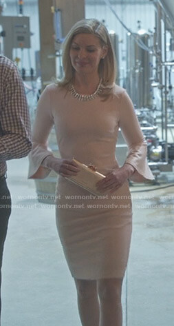 Stephanie's pink bell sleeve dress on Good Witch