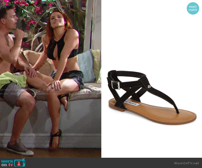 Steve Madden Hidden Sandal worn by Courtney Hope on The Bold & the Beautiful