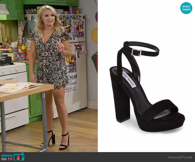Steve Madden Insomnia Sandals worn by Gabi Diamond (Emily Osment) on Young & Hungry
