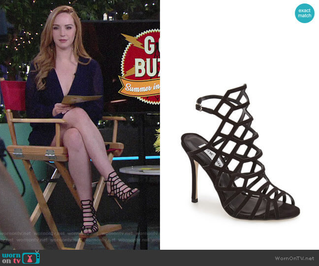 Steve Madden Slithur Sandals worn by Camryn Grimes on The Young & the Restless