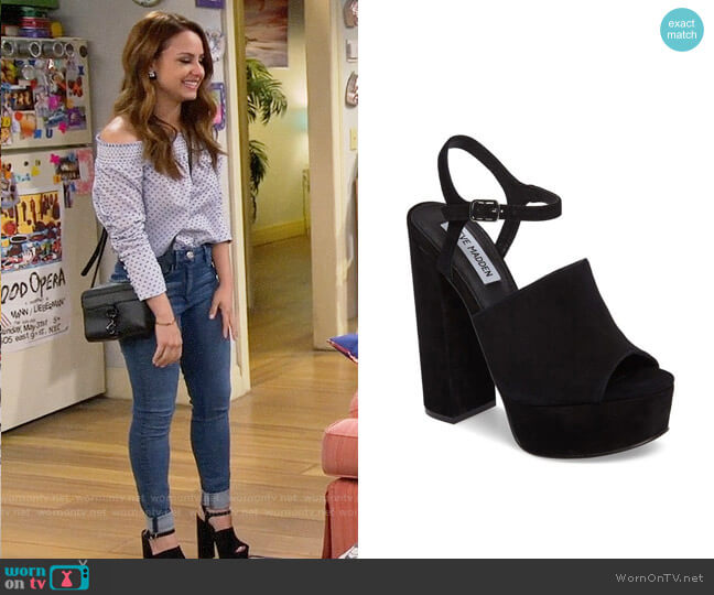 Steve Madden Studio Heels worn by Sofia Rodriguez (Aimee Carrero) on Young & Hungry