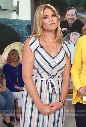 Jenna's striped jumpsuit on Today