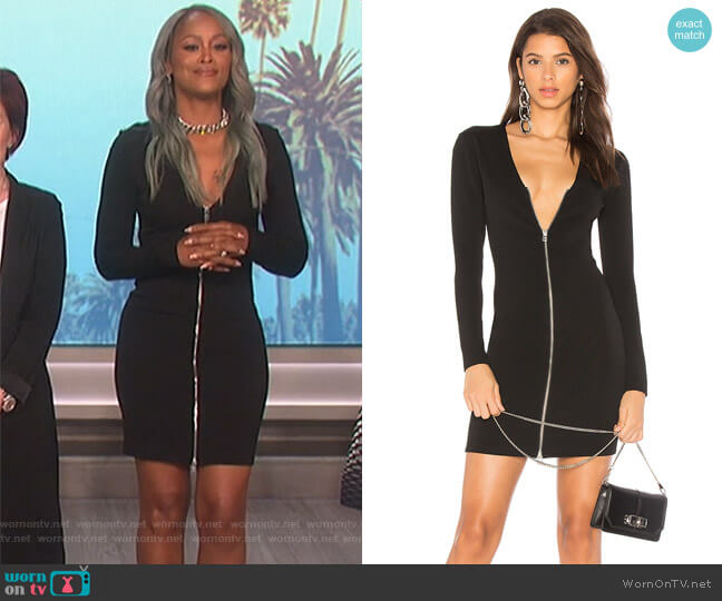 Front Zip Mini Dress by T by Alexander Wang worn by Eve on The Talk