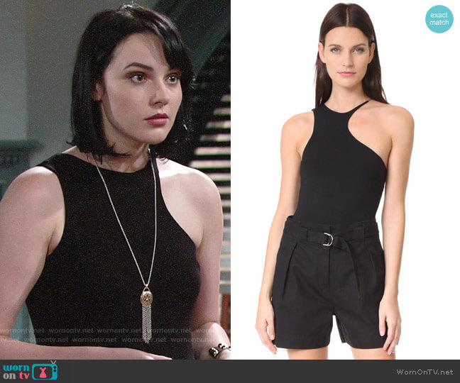 T by Alexander Wang Asymmetric Cutout Tank worn by Tessa Porter (Cait Fairbanks) on The Young & the Restless