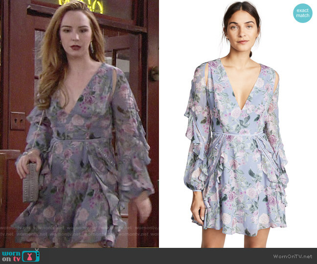 La Maison Talulah Here & Now Mini Dress worn by Mariah Copeland (Camryn Grimes) on The Young & the Restless