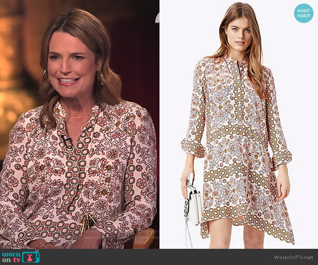 Celeste Dress by Tory Burch worn by Savannah Guthrie on Today