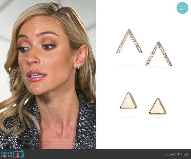 Uncommon James Little Stud and Dalisay Earrings worn by Kristin Cavallari  on Very Cavallari
