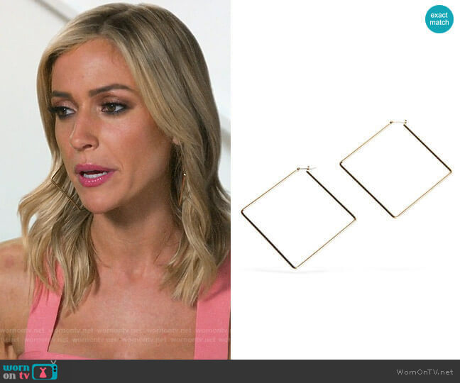 Uncommon James Girl Boss Hoops worn by Kristin Cavallari (Kristin Cavallari) on Very Cavallari