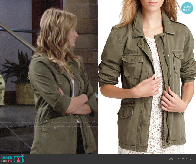 Velvet by Graham & Spencer Army Jacket worn by Summer Newman (Hunter King) on The Young & the Restless