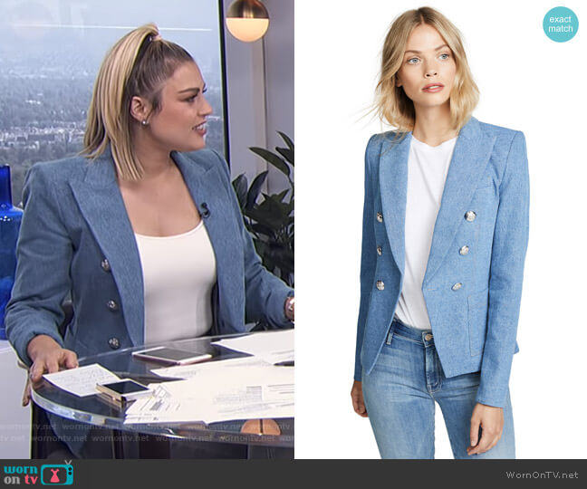 Caden Dickey Jacket by Veronica Beard worn by Carissa Loethen Culiner (Carissa Loethen Culiner) on E! News