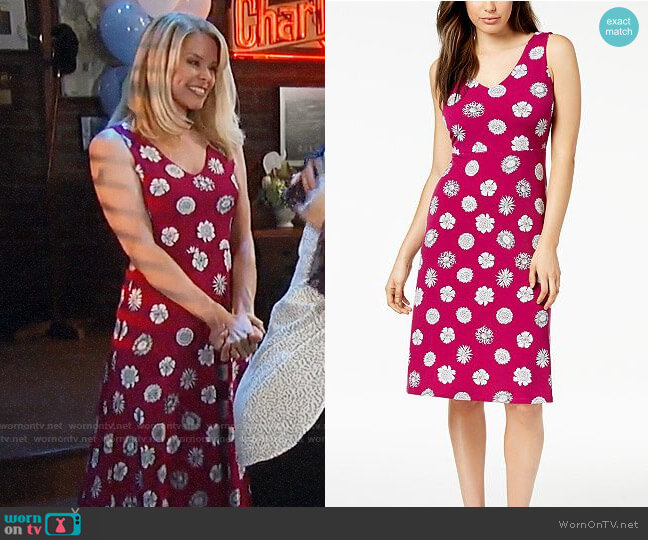 Vince Camuto Crisscross-Back A-Line Dress worn by Kristina Wagner on General Hospital