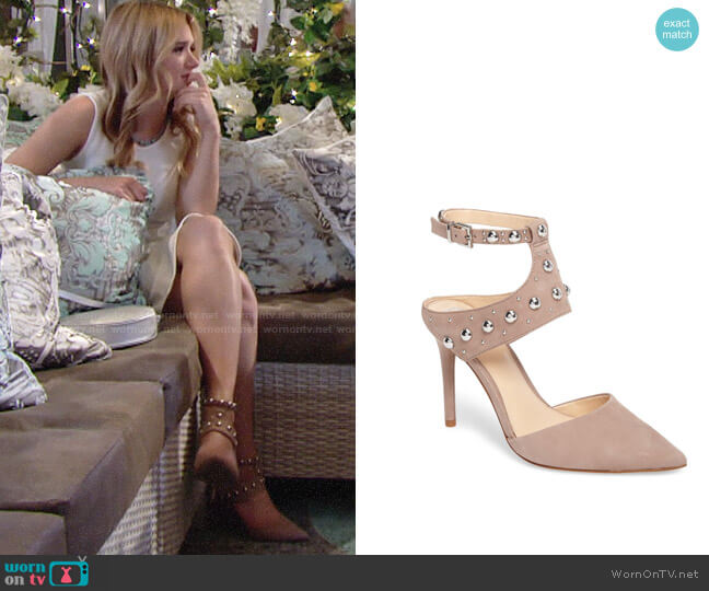Vince Camuto Ledana Studded Pumps worn by Hunter King on The Young & the Restless