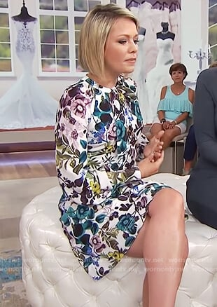 Dylan's floral print long sleeve dress on Today