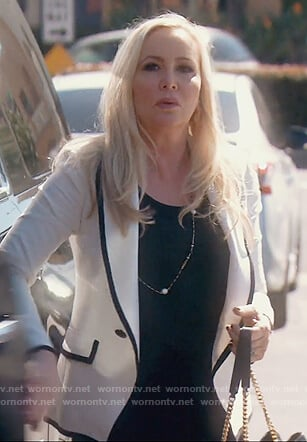 Shannon's white contrast blazer on The Real Housewives of Orange County