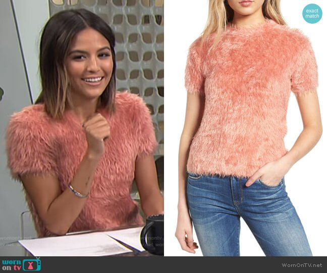 Eyelash Sweater by Woven Heart worn by Erin Lim on E! News