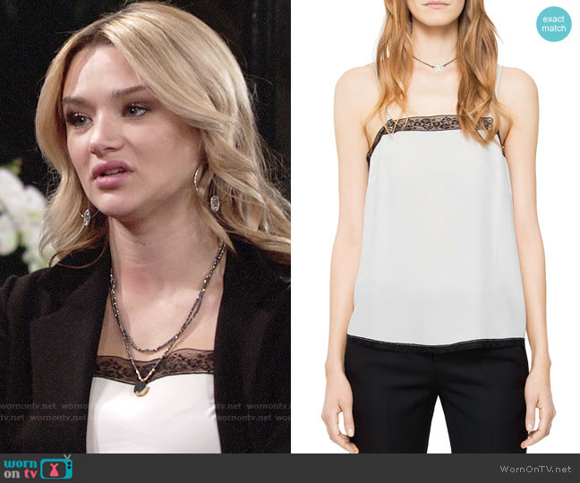 Zadig & Voltaire Carmen Silk Camisole Top worn by Summer Newman (Hunter King) on The Young & the Restless