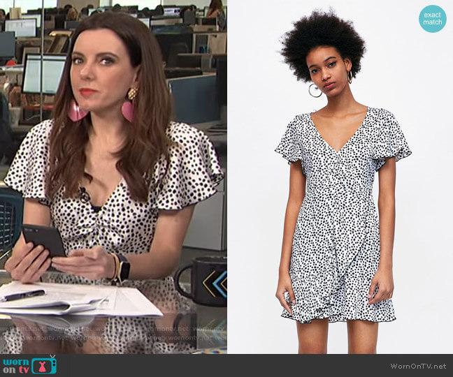 Polka Dot Print Dress by Zara worn by Melanie Bromley on E! News