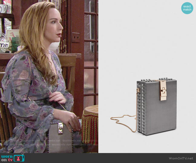 Zara Box Bag with Beads worn by Mariah Copeland (Camryn Grimes) on The Young & the Restless