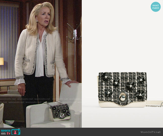 Zara Crossbody Bag with Interchangeable Flap worn by Melody Thomas-Scott on The Young & the Restless