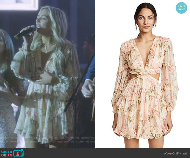 227fe573d8a29 Prima Floating Cutout Dress by Zimmermann worn by Maddie Jaymes (Lennon  Stella) on Nashville