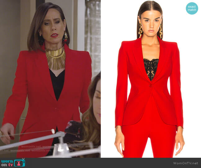 Single Button Blazer by Alexander McQueen worn by Diana Trout (Miriam Shor) on Younger