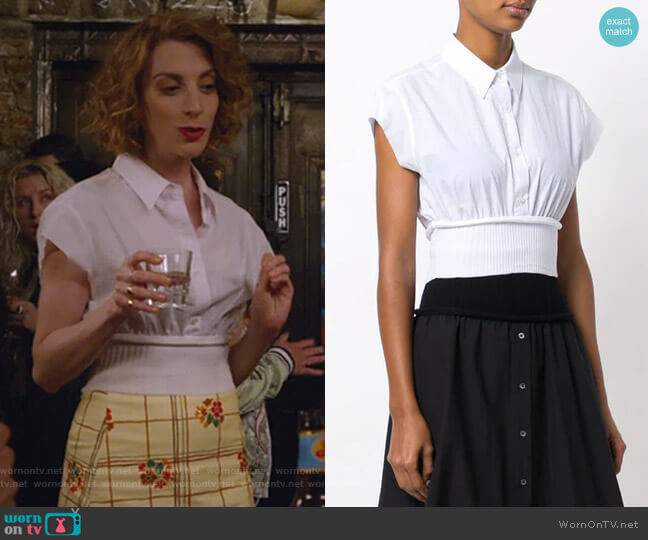 Cropped Shirt with Waistband by Alexander Wang worn by Lauren (Molly Bernard) on Younger