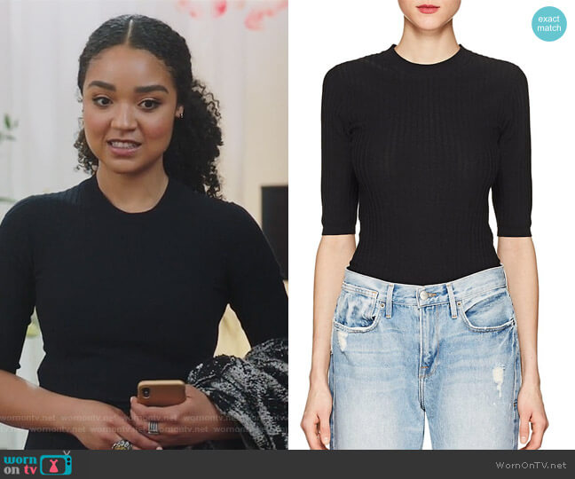 Iza Cotton-Blend Top by Acne Studios worn by Kat Edison (Aisha Dee) on The Bold Type