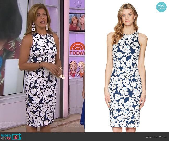 Daisy Field Dress by Adrianna Papell worn by Hoda Kotb on Today