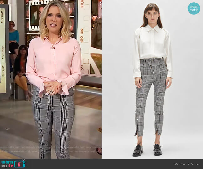 Mixed Snap Detail High Waisted Legging by Alexander Wang worn by Megyn Kelly  on Today
