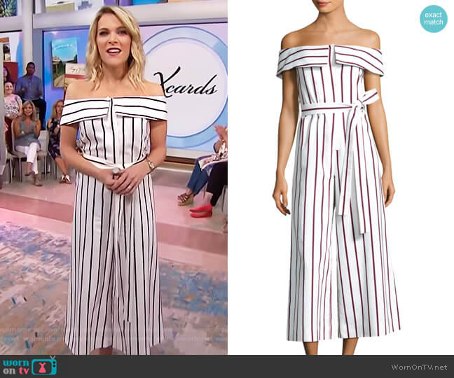 Ninna Striped Jumpsuit by Alexis worn by Megyn Kelly  on Today