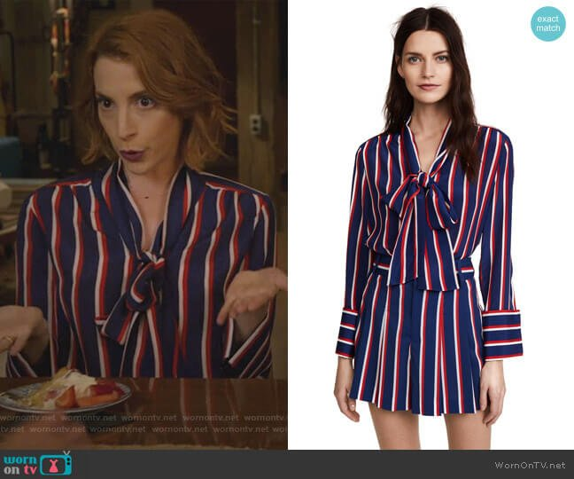 Arie Top and Scarlet Shorts by Alice + Olivia worn by Lauren (Molly Bernard) on Younger