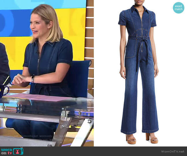 Gorgeous Jumpsuit by AO.LA by Alice + Olivia worn by Sara Haines on Good Morning America
