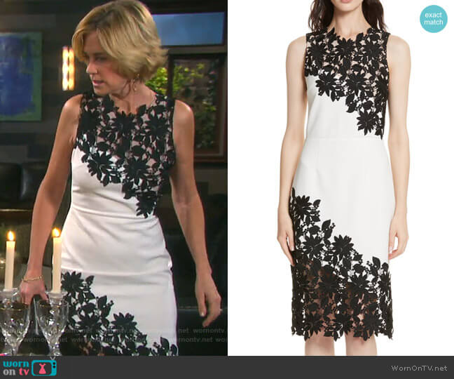 Margy Dress by Alice + Olivia worn by Eve Donovan (Kassie DePaiva) on Days of our Lives