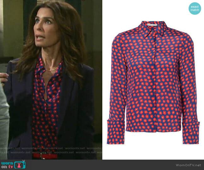 Daisy Print Shirt by Alice + Olivia worn by Hope Williams (Kristian Alfonso) on Days of our Lives